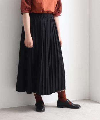 T/R ロングプリーツスカート