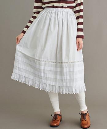 〇Male ブロード 裾レーススカート