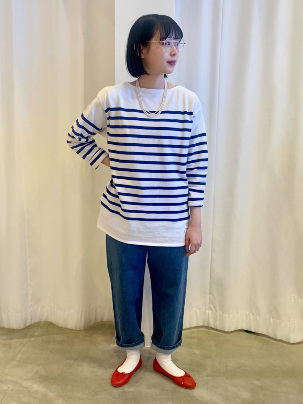Dot and Stripes CHILD WOMAN ラフォーレ原宿 身長:157cm 2021.02.08