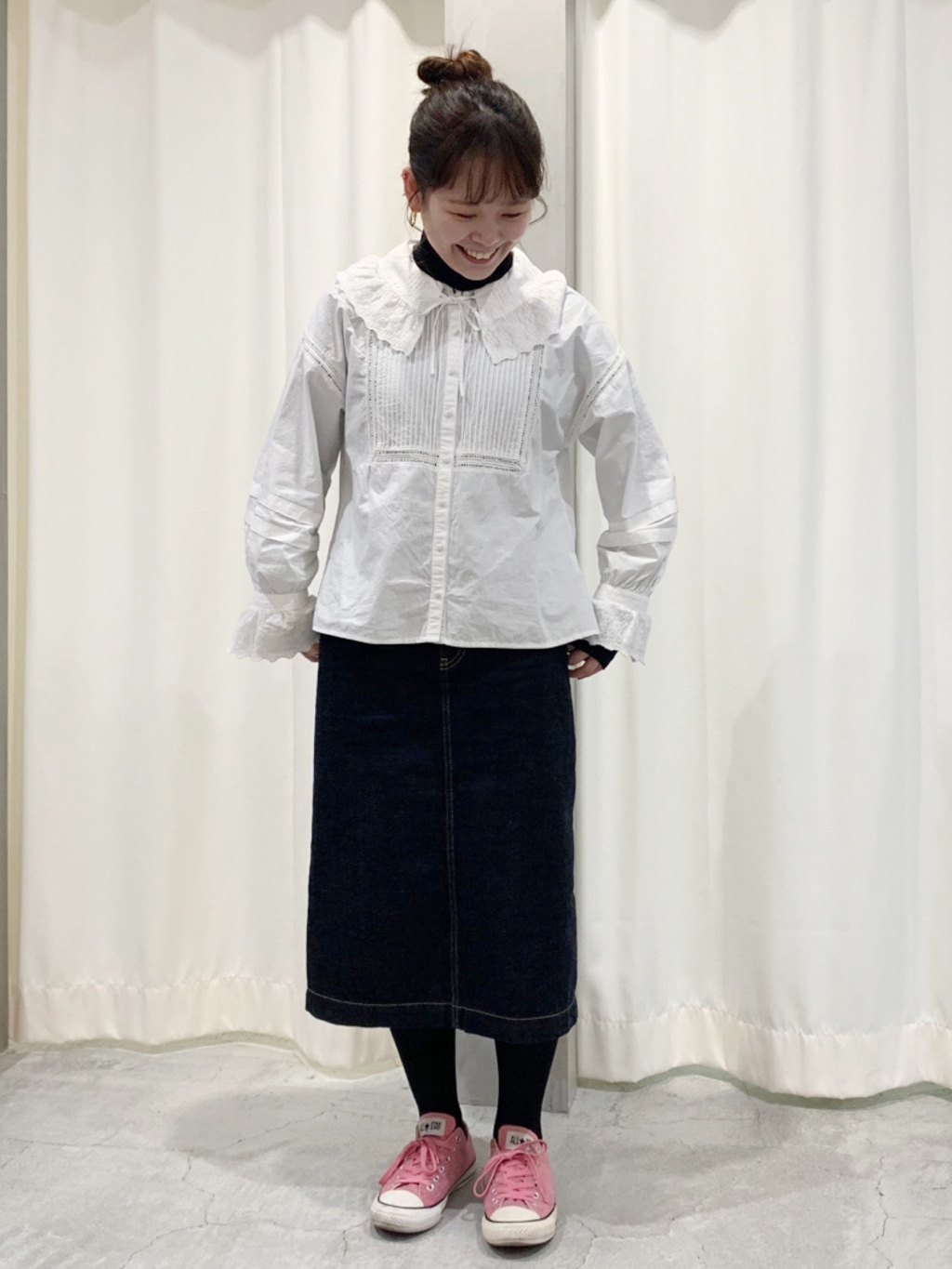 Dot and Stripes CHILD WOMAN CHILD WOMAN , PAR ICI 新宿ミロード 身長:157cm 2021.01.29