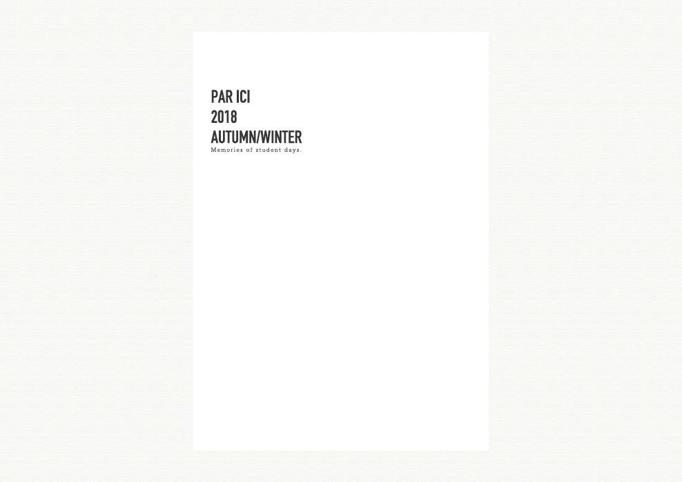 PAR ICI|PAR ICI 2018 autumn/winter カタログ画像