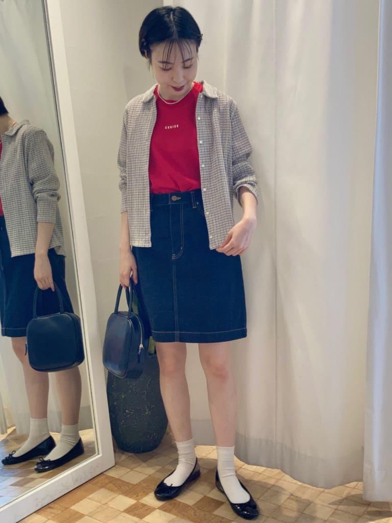 Dot and Stripes CHILD WOMAN 名古屋栄路面 身長:161cm 2021.07.15
