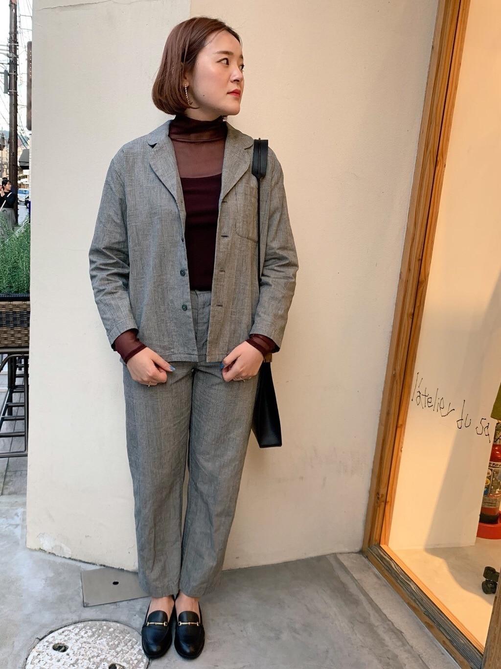 l'atelier du savon 京都路面 身長:166cm 2019.10.16