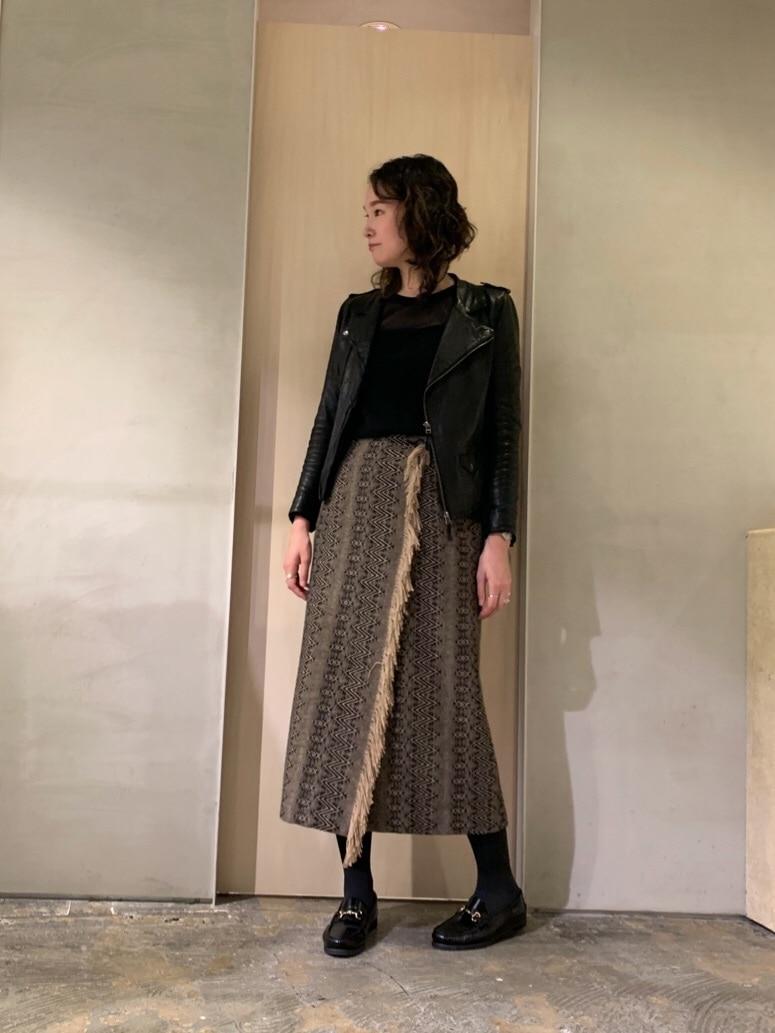 note et silence. ルミネ新宿 身長:167cm 2019.12.20