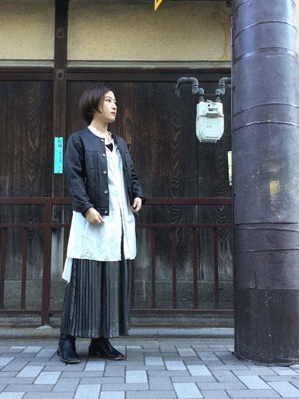 note et silence. 京都路面 身長:150cm 2020.02.09