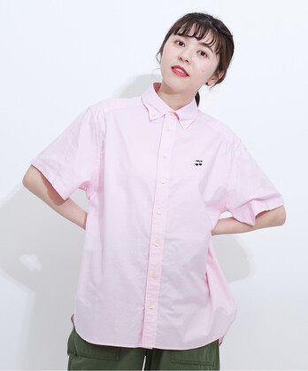△プレミアムオックスボタンダウン半袖シャツ