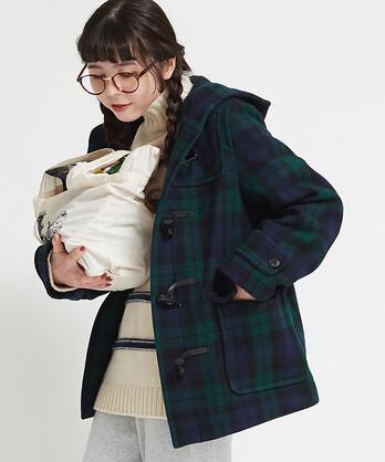 △○綾メルトンWフェイスショートダッフルコート
