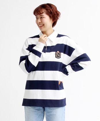 〇30//2エーゲ海天竺 ラガーシャツ