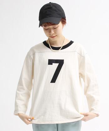 【予約販売】○10/-オールドヴィンテージ天竺フットボールTシャツ
