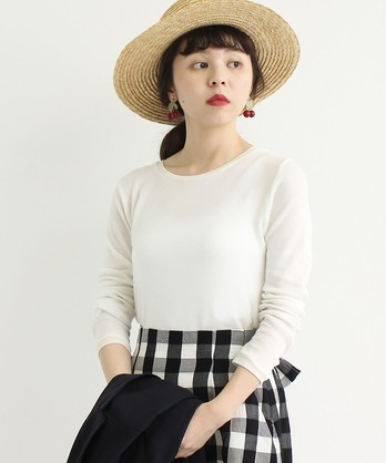 △air knitフライスラウンドT