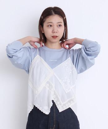 〇CERISE チェリープリント ロングTシャツ