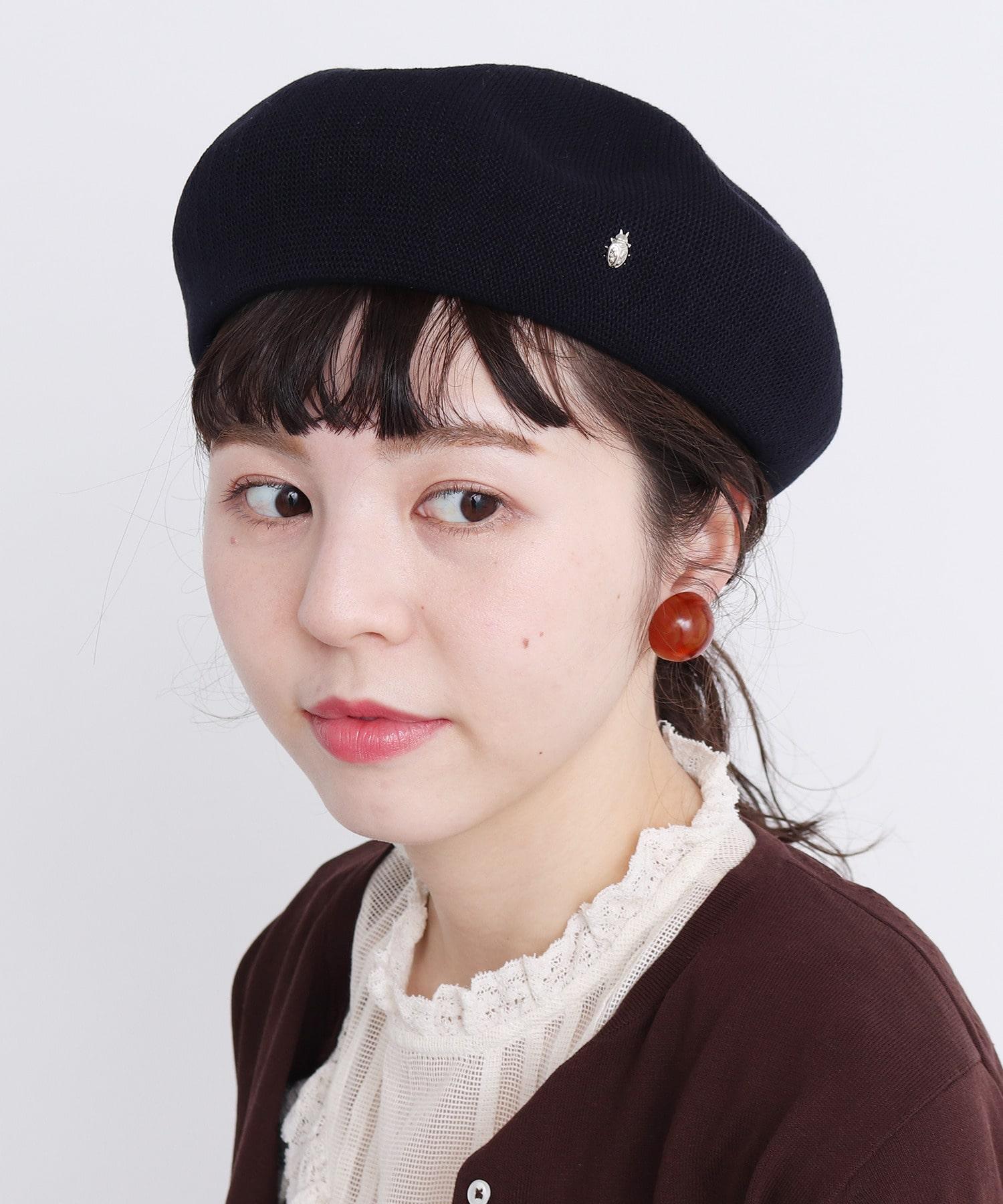 △○てんとう虫ピン ベレー帽