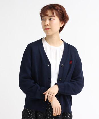 ○チェリー刺繍Vカーディガン