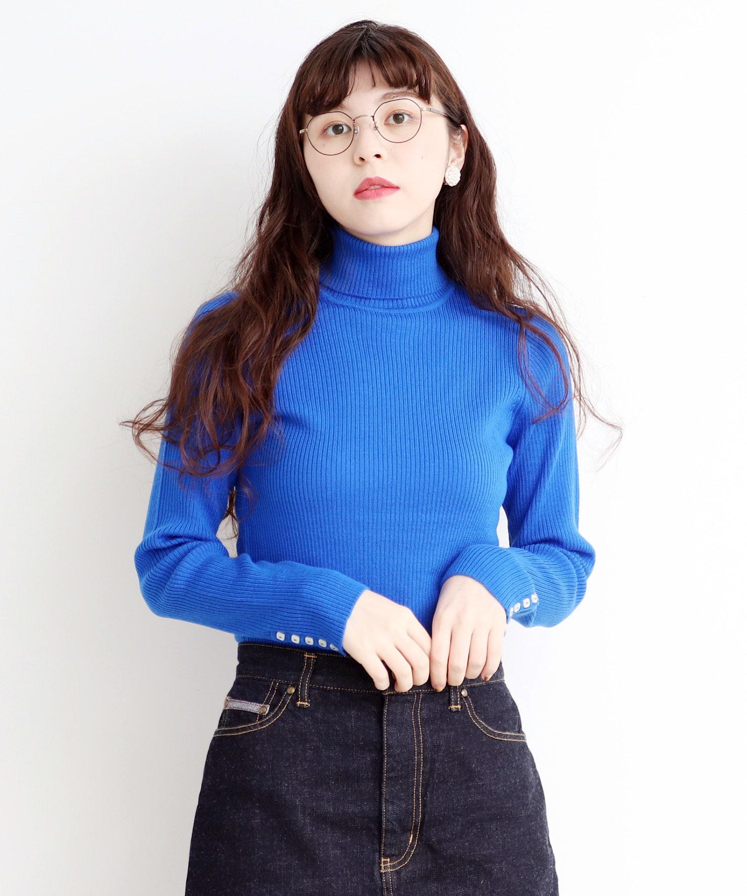 △Extrafine merino wool 12GGリブタートル
