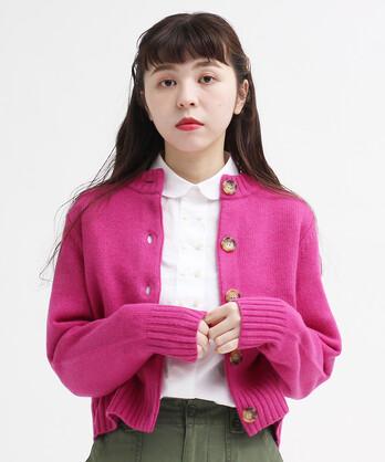 △○Extrafine merino wool 5GGクルーカーディガン