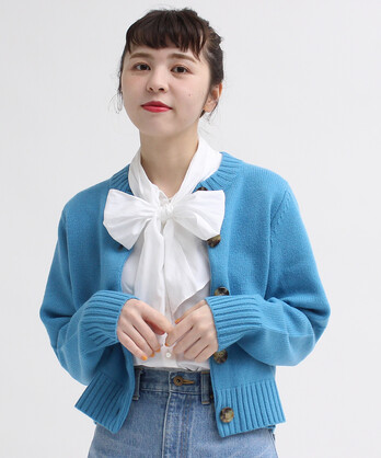 ○Extrafine merino wool 5GGクルーカーディガン