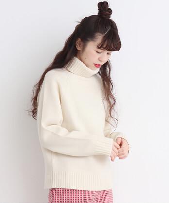 △○Extrafine merino wool 5GGタートルネック