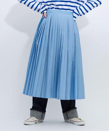 〇50ブロード プリーツスカート