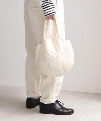 レース 葉っぱのキルティング バッグ