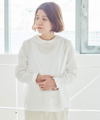 ○itsumo ベーシック 丸衿シャツ
