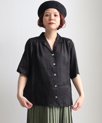 ○80/ラミー 開襟ブラウス