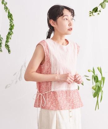 △○わたしのお花畑刺繍 まえかけブラウス