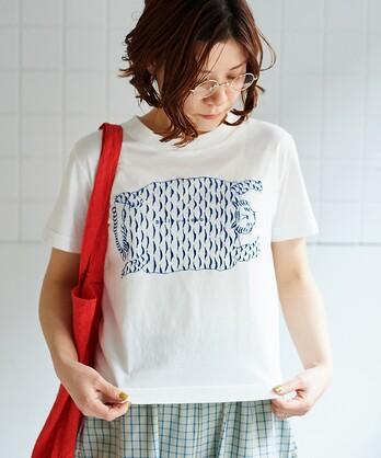 """○30/天竺コットン/ """"tora"""" プリントTシャツ"""