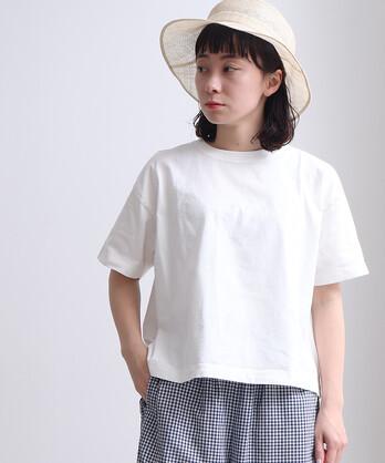 △《 itsumo 》コットン天竺 みじかめTシャツ