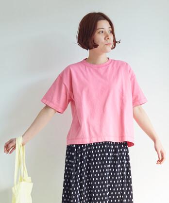 ○《 itsumo 》コットン天竺 みじかめTシャツ