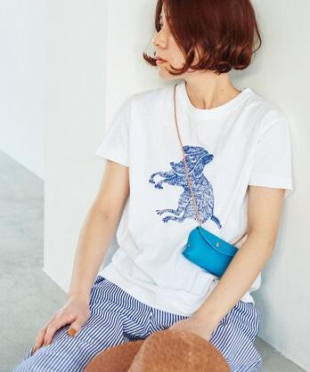 """○""""beagle""""プリントTシャツ"""