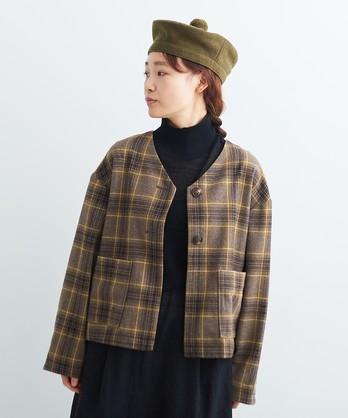 ○ウール/綾織り 大きなポケットジャケット
