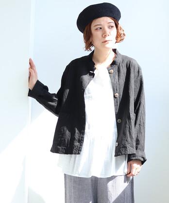 〇ラミー/ミニスタンド衿ジャケット