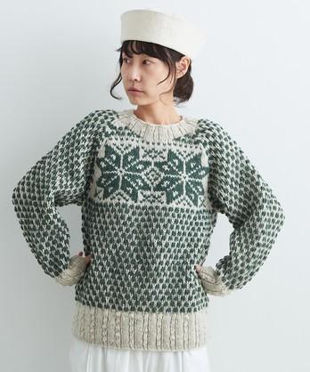 ○ネパールハンドニット ノルディックセーター