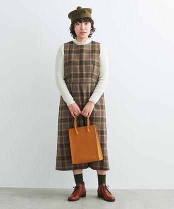 ○ウール/綾織り アシメタックワンピース