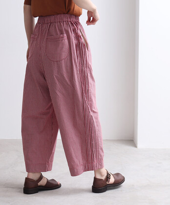 ギンガムCHECKピンタック パジャマパンツ