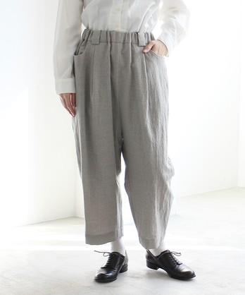 △ウール/リップル タックパンツ