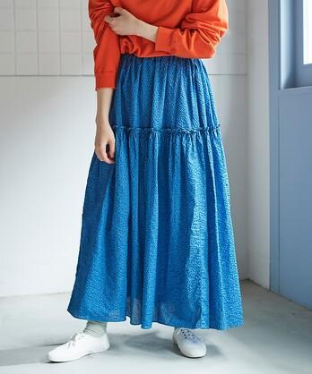 ○over dye ティアードスカート