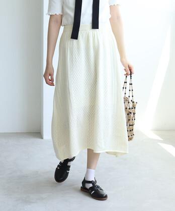 12G 透かし編み スカート