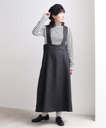 △サキソニー ロング吊りスカート
