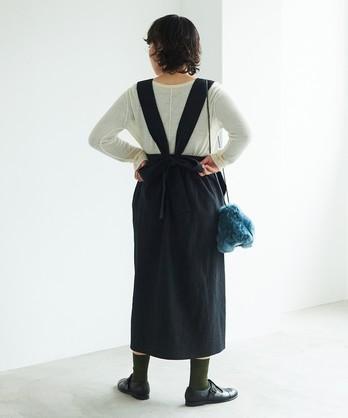 ウール/リップル タスキスカート
