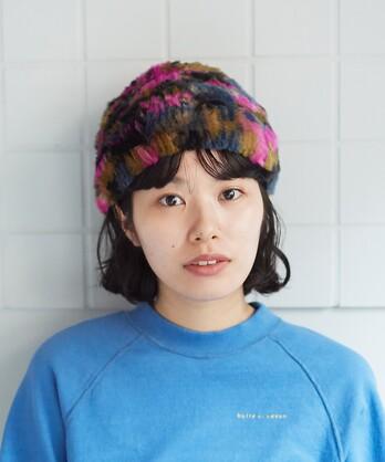 ○ラビットファー カラフル帽