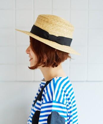 △麦わら カンカン帽
