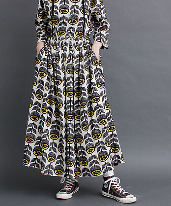 〇夏みかんプリント ギャザースカート