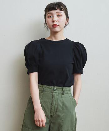 △〇バスクフライス BIGパフスリーブ Tシャツ