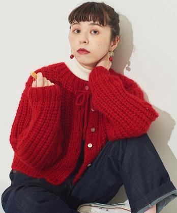 △○ダンデリリー 手編み ボレロカーディガン