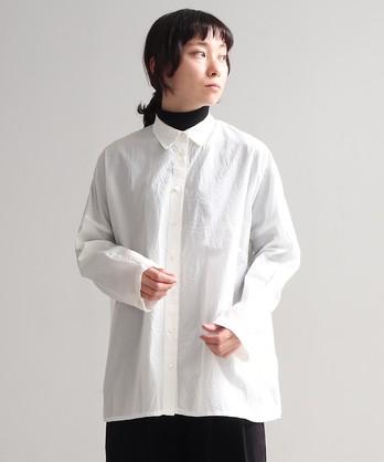 キュプラ/コットン製品染め Wide シャツ