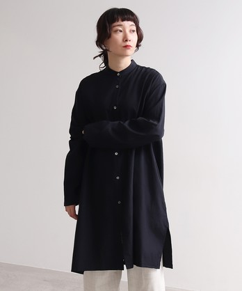 △シルク/キュプラ long シャツ
