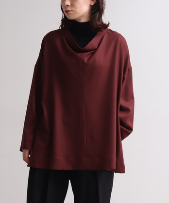 ○super120soft amunzen cowl neck プルオーバー