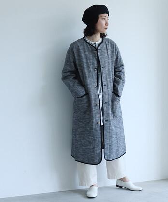 〇コットン/Tweed haori コート