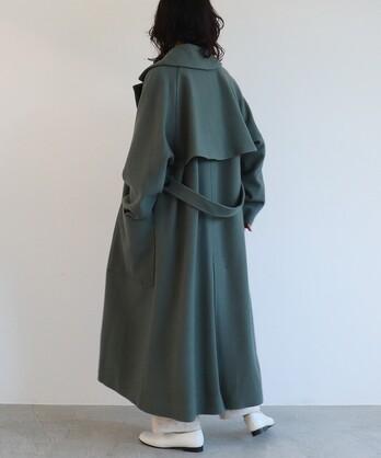 ○super100 Wool ロングトレンチコート